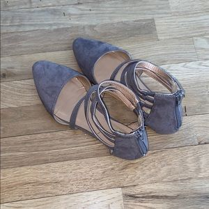 Taupe Flats with Straps